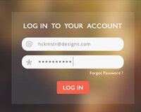 Mobile app Free PSD (Log In, Sign Up, Forgot Password)