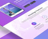 Olivia One Page Landing Page Design