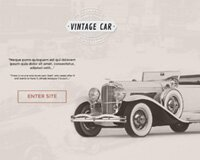 Vintage Car Free PSD Template