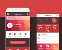 Freebie: Mobile application interface design PSD