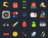 120+ Free Set PSD Colorful Ficons Icons