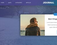 Journal Multi purpose blog page free psd website template