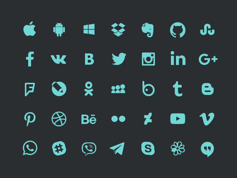 Update Social icons
