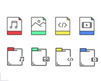 Files and Folders icons Free psd