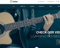 Guitar School - Educational Music PSD Template