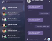 Instant Mobile Chat Messenger App Ui Free PSD
