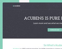 FREE Website Template: Acubens