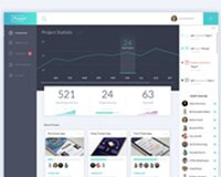 Project Square - Free Dashboard PSD