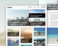 Karta, a free travel psd blog template