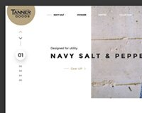 TANNER COLLECTIONS - Free PSD Template web site