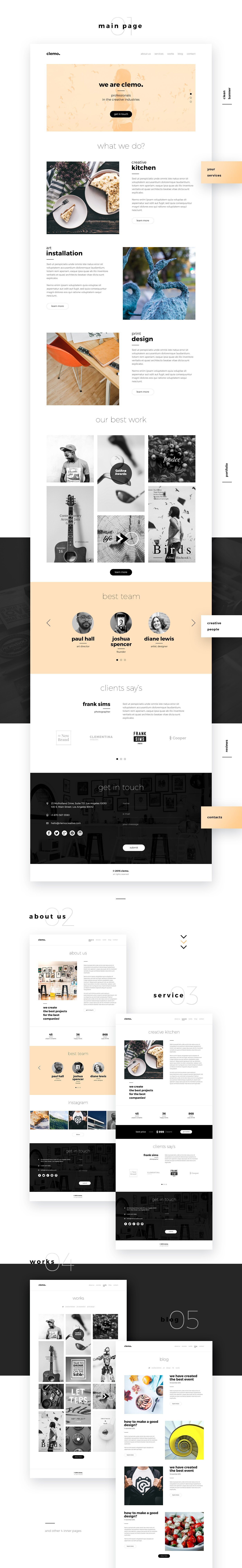 Clemo – Free PSD Template