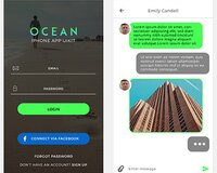 OCEAN Mobile UI KIt PSD