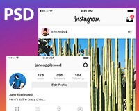 Instagram App FREE PSD