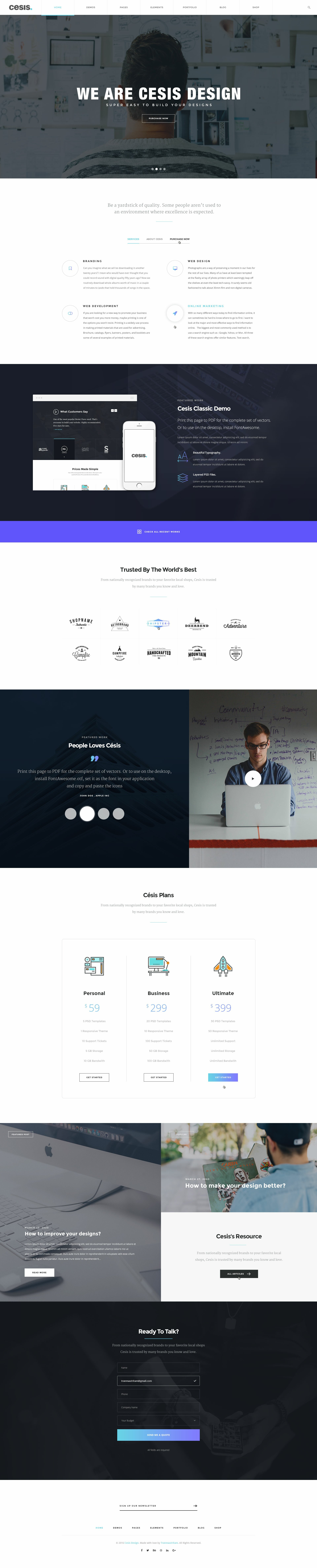 Free PSD Template – Cesis Design for Agency