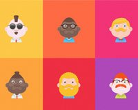 New Freebie! Material Design Avatar Set