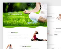 Fitness and Yoga Landing Page - Freebie