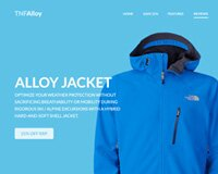 Free Flat Website Template - TNF Alloy