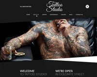 Free Tattoo Studio Website PSD