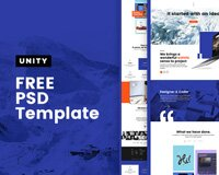Unity Website Template FREE PSD