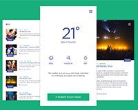 Weather & Events App (Free PSD)
