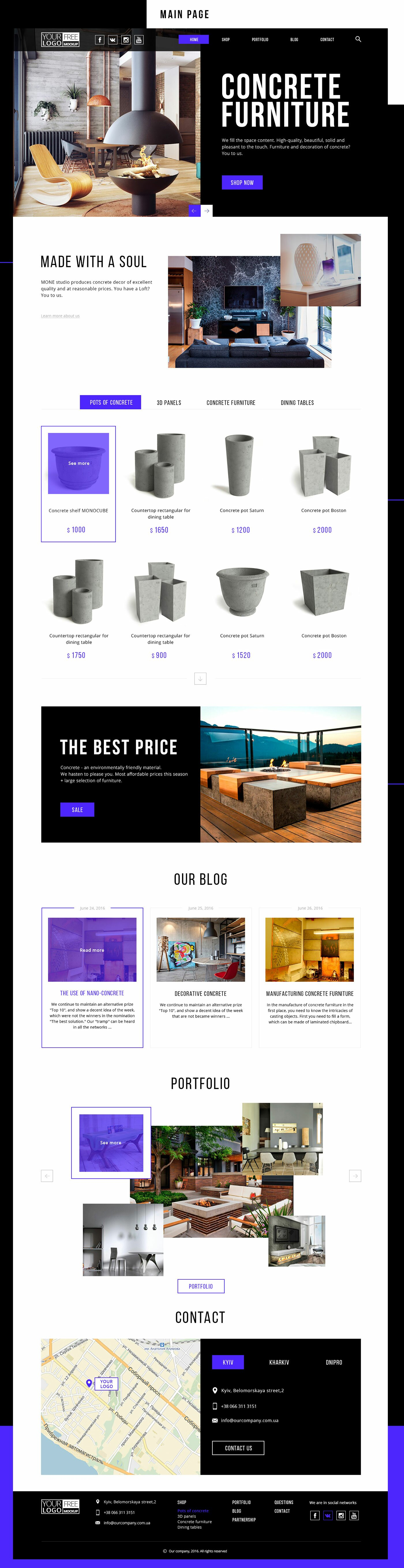 Store Template Free psd