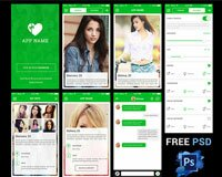 Dating App UI FREE PSD