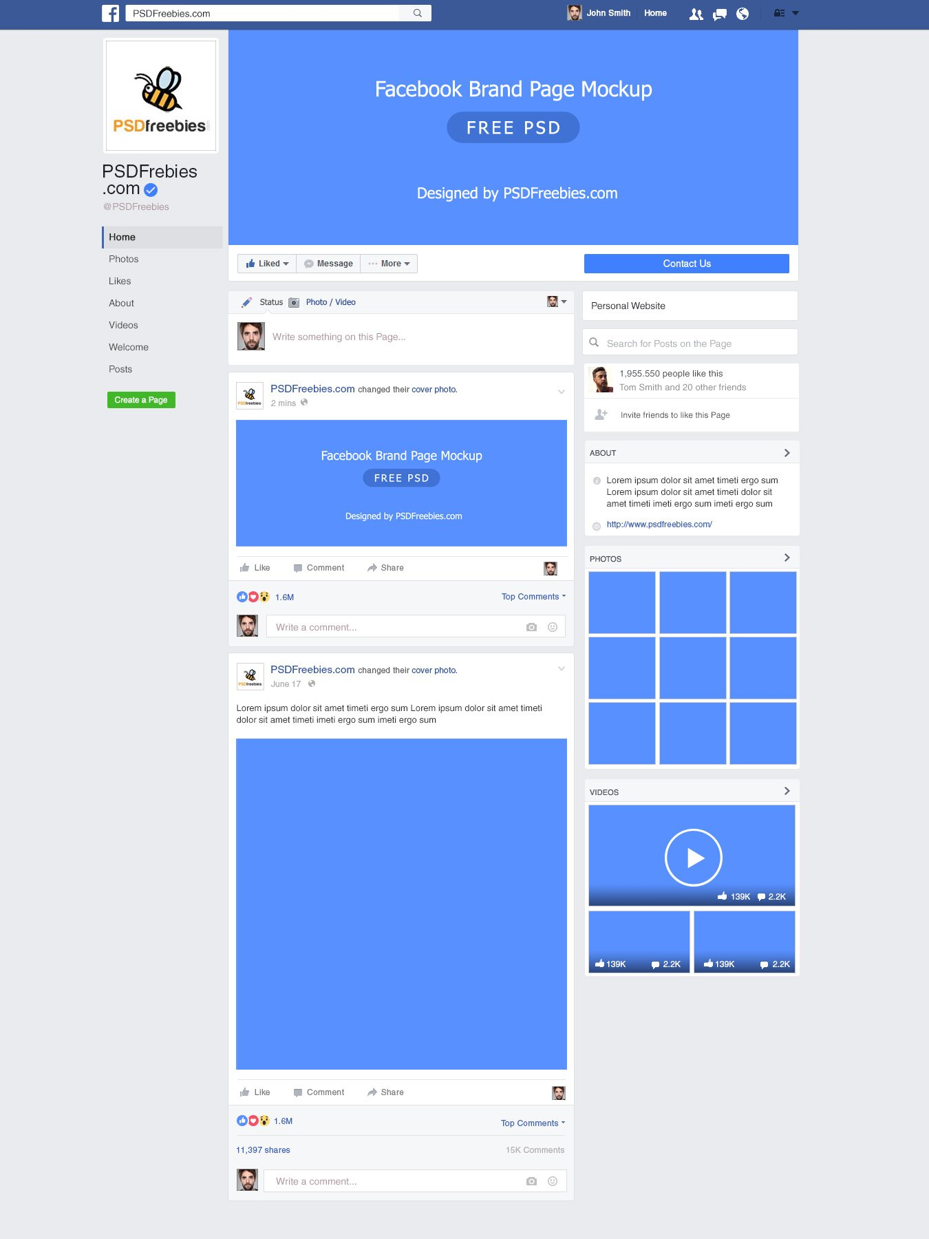 Free facebook psd templates for best free home for Facebook app template psd