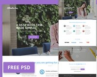 Atlantix Zen - Free SAAS PSD Website Template