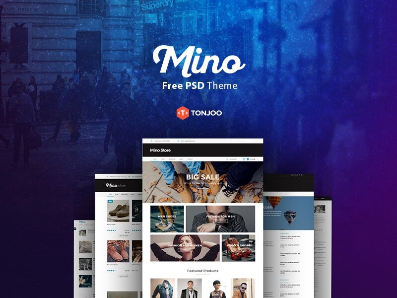 Mino Free PSD Blog Template