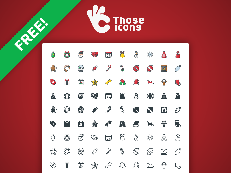 Free Christmas Icons for project Those Icons