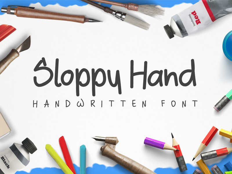 Sloppy Hand Free Handwritten Font