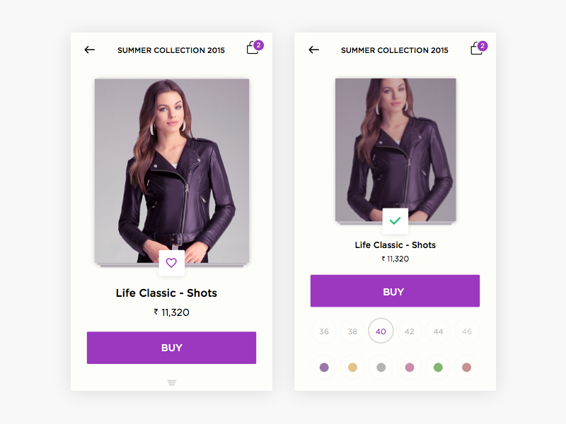 Product Details Commerce App .sketch