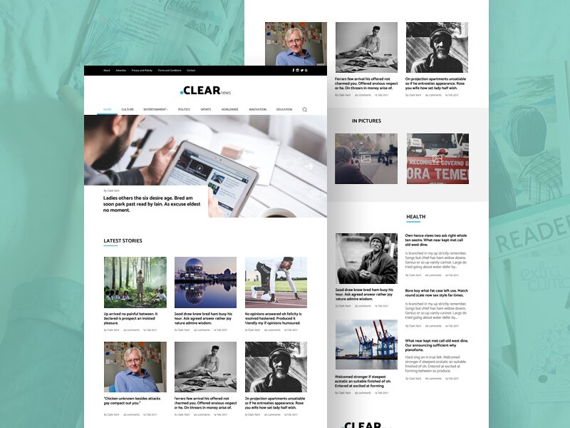 Blog Magazine PSD Template