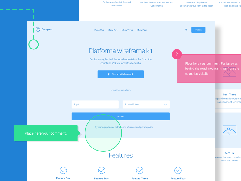 Platforma Wireframe Kit Free Version