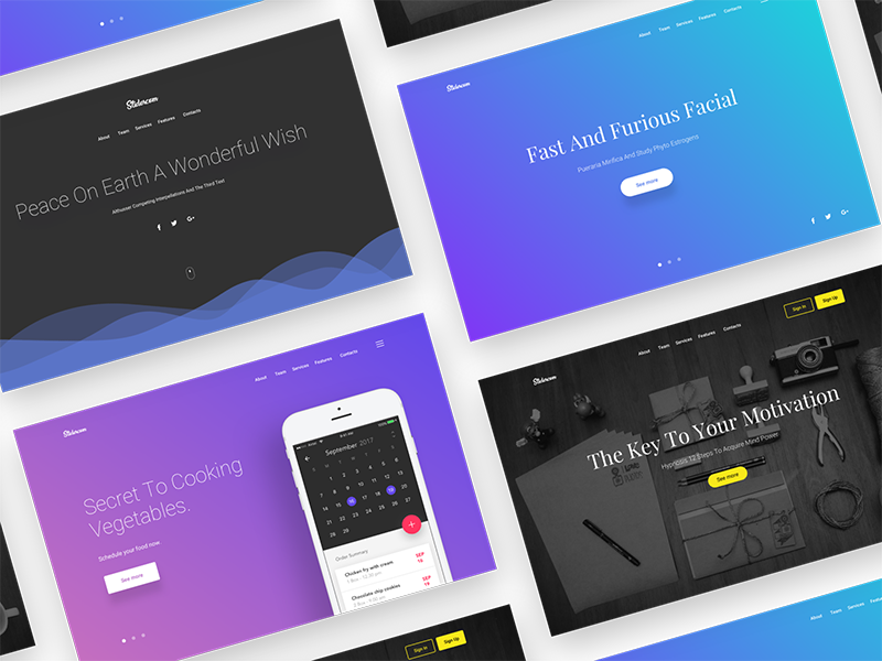 Free header/hero backgrounds slides – Sketch