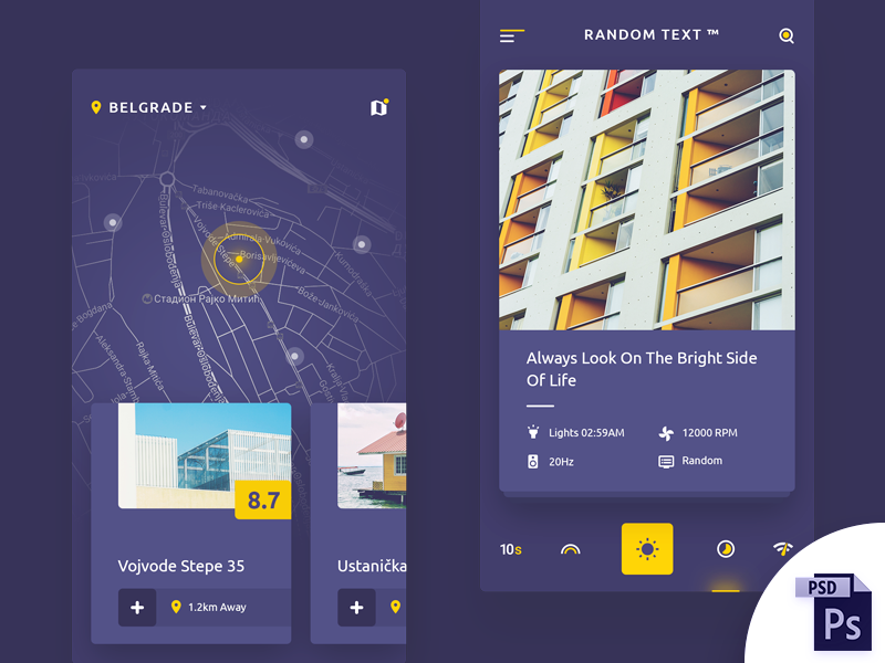 Real Estate App Design FREE PSD & Sketch